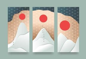 Packaging templates japanese of luxury or premium products. vector
