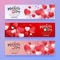 Mother's day sale poster banner background vector