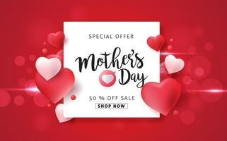fondo de banner de cartel de venta del día de la madre vector