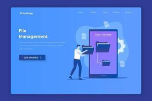 File management illustration concept vector