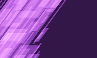 Velocidad geométrica de luz de tono púrpura abstracto dinámica con diseño de espacio en blanco tecnología futurista moderna ilustración de vector de fondo
