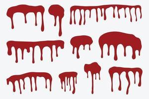Set of blood drops vector