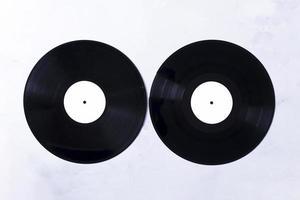 discos de vinilo de vista superior foto