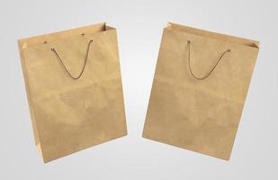 dos bolsas de papel 3d foto