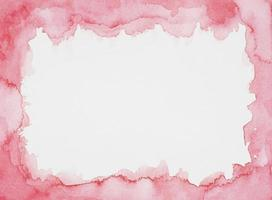 Watercolor frame on white sheet photo