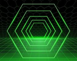 Green Glowing Background Vector Graphic