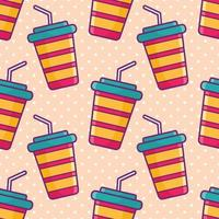 drink cup seamless pattern illustration vector