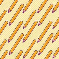 pencil school seamless pattern illustration vector