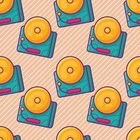 school bell seamless pattern illustration vector