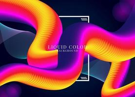 ilustration graphic vector of liquid color background