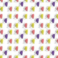 Abstract woman face drawing line art pattern wallpaper vector