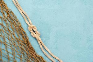 red de pesca de cuerda náutica foto