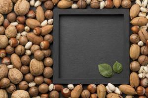 Nuts arrangement with copy space photo