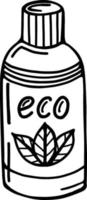 shampoo or shower gel in eco-friendly packaging vector