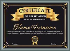 mejor plantilla de diseño de certificado de premio vector