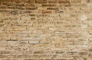 Fondo de pared de ladrillo rojo al aire libre foto