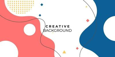 creative colorful abstract minimal background vector