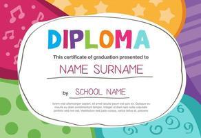 Certificado de plantilla de diploma de reconocimiento, borde de certificado multipropósito con diseño de placa vector