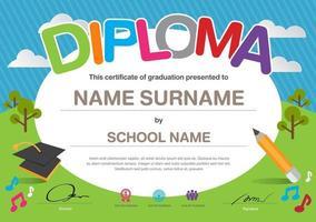certificate of appreciation diploma template, multipurpose certificate border with badge design vector
