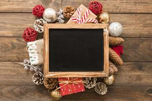 Photo frame of Christmas ornaments