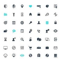 49 icons for web, apps and infographics, business, commerce, technology, isolated on white, vector