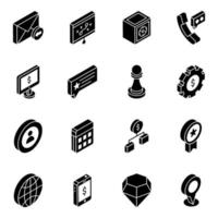 Financial Apps Glyph vector