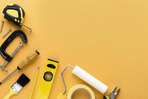 conjunto de herramientas con espacio de copia foto