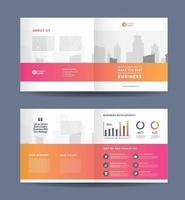 diseño de folletos bifold de negocios corporativos y diseño de folletos de marketing de la empresa vector