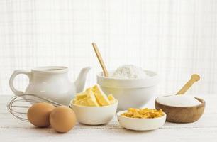 Pastry preparation ingredients photo