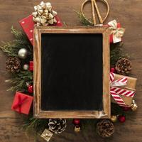 Photo frame of Christmas decorations