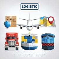 Colored Logistic Poster vector