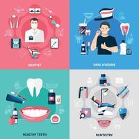 Dental 2x2 Design Concept vector