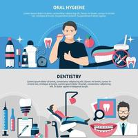 Oral Hygiene And Dentistry Banners vector