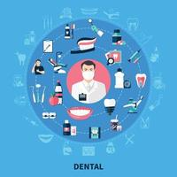 Dental Round Design Concept vector