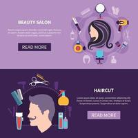 Hairdresser Banner Set vector