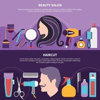 Two Hairdresser Composition vector