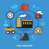 concepto de industria minera vector