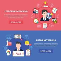 Business Coaching Banners Set vector