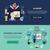 Coaching Banners Set vector