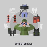 Border Guard Concept Vector Illustration