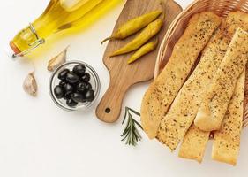 Garlic bread sticks photo