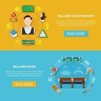 Billiard Championship Horizontal Banners vector