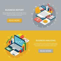 Business Analytics Banners Set Vector Illustration