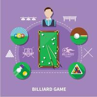 Billiard Game Composition vector