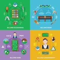 Billiards Design Concept vector