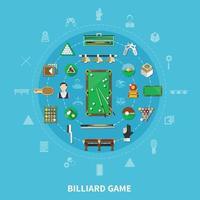 Billiards Round Composition vector