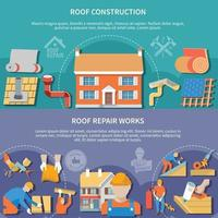 Two Roofer Banner Set vector