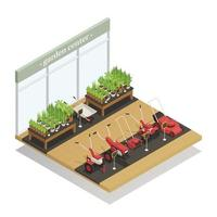 Garden Center Equipment Sale Isometric Composition Vector Illustration
