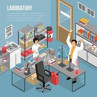 In The Lab Composition Vector Illustration