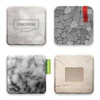 Realistic Stone Texture Design Concept Vector Illustration